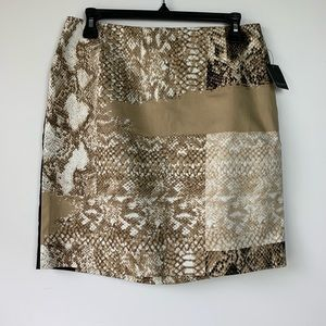 Tahari Dani Reptile Tiki Hut Pencil Skirt 6 NWT